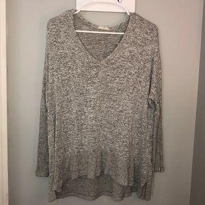 Grey and black Tunic Sweater